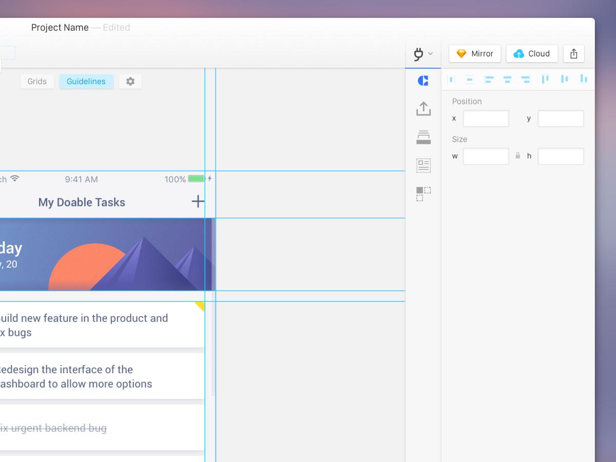 Sketch UI Concept